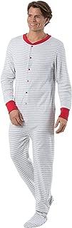 Mens Onesie Pajamas Cotton - Mens Footed Pajamas, Dropseat