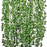 JIAOXIAOHUI Ivy Artificial Guirnalda Vid Colgando Guirnalda Fake Hoja Plantas, vides Verde Claro decoración para la Cocina de la Cocina de la Cocina de la Cocina de la Cocina seto Artificial