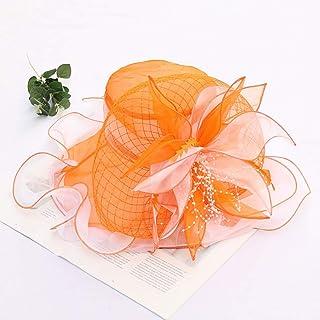 Large Wide Brim Sun Hat Summer UV Hat Womens Oaks Derby Dress Church Cloche Hat Sweet Cute Floral Bucket Hats Lady Dressy ...
