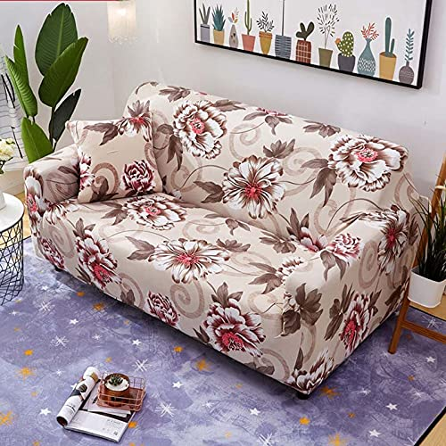 PPOS Sala de Estar Funda de sofá en Forma de L Four Seasons Funda de sofá con Todo Incluido Funda de sofá de Esquina Suave Funda de sofá Universal D8 3 plazas 190-230cm-1pc