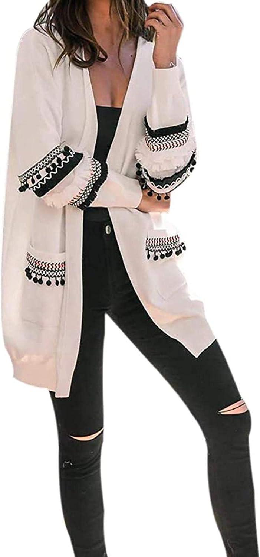 CHENGYYDP Cardigan Womens Open Front Soft Basic Cardigan Sweaters Long Sleeve Warm Coat Autumn Winter Large Size Coat (Color : White, Size : XXL)