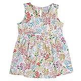 Stummer Baby Mini Girls Fille Robe, Blanc, imprimé Floral, Taille 98, 3 Jahre