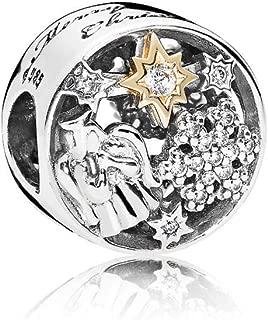 PANDORA Celestial Wonders Charm, Sterling Silver W/ 14K Gold & Clear CZ 796363CZ