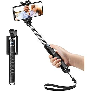 Mpow Perche Selfie Bluetooth, Selfie Stick Extensible de Poche/Bton Selfie Réglable pour iPhone XS Max/XR/XS/X/8/Plus/7/6S, Galaxy S10/S10e/S9/Note 9, Huawei Ect Smartphone Android