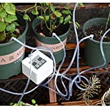 Automatic Drip Irrigation Kit, Self Watering System with Timer and USB Charging for Deck, Patio, Garden, Vegetable Gardens or Potted Plants, DIY 30-Day Programmable Water Timer for 10 pots flowers