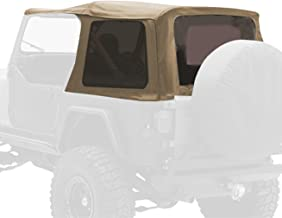 Smittybilt 9870217 Denim Spice OEM Replacement Soft Top with Door Skins and Tinted Windows
