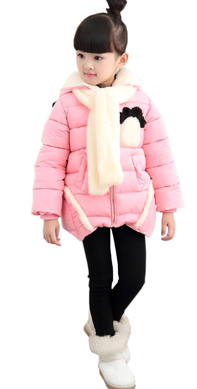 fulaixi冬可愛いパンダ防寒 保温 アウター長袖コート子供向きコート ジャケット 子供服/子供用コート