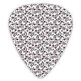 12 púas de guitarra, diseño de corazones de San Valentín, cumpleaños, infantiles, color ABS, ambiental, para guitarras