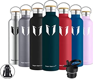 Super Sparrow Stainless Steel Vacuum Insulated Water Bottle, DStandard Mouth -350ml-620ml- 500ml & 750ml & 1L - BPA Free -...