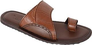 VONZO Men Brown Slip On Classy Sandal Chappal