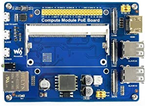 Waveshare Compute Module IO Board with PoE Feature Composite Breakout Board for Developing with Raspberry Pi CM3 / CM3L / CM3+ / CM3+L with GPIO Header for Sorts of Raspberry Pi Hats