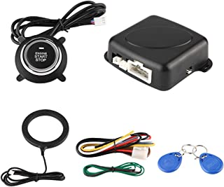 Car Alarm Security System, Universal Alarm System Start Button Engine Push Switch Start Stop Lock for Anti-Theft Protection photo