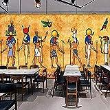 XHXI Papel tapiz fotográfico 3D Murales egipcios antiguos Bar Restaurante Fondo Decoración para el hogar Pintu Pared Pintado Papel tapiz Decoración dormitorio Fotomural sala sofá mural-300cm×210cm