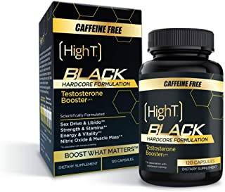 High T Black Caffeine Free- Total Testosterone Booster - Naturally Enhances Stamina, Endurance, Strength and Energy. Build...