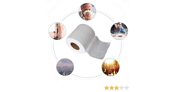 Yarnow Tela de Filtro de Tela No Tejida Fundida por Soplado 5M Material de Tela Original Capa de Filtrado Aplicaci/ón de Filtro de Reemplazo para Hacer La Cara Boca Cubierta Blanca