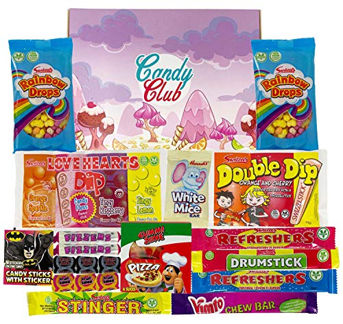Retro Sweets Hamper Gift Box. Packed with Retro Sweet Classics. Perfect Present for Birthday Days, Christmas ...