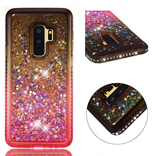 with FYY Case for Galaxy S9 Plus, LTD Prevent Card Information Leaking Technique and for Samsung Galaxy S9 Plus Purple GUANGZHOU WENYI COMMUNICATION EQIPMENT CO Inside Makeup Mirror Leather Wallet Case Kickstand Feature
