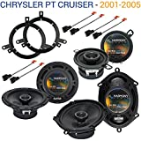 Compatible with Chrysler PT Cruiser 2001-2005 OEM Speaker Upgrade Harmony...