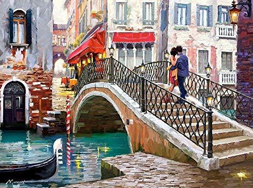 Adoff Puzle de 1000 piezas, puzle de Venice BridgeFloor, para adultos, regalo para los amantes del rompecabezas imposible