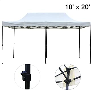 Sunnyglade 10'x20' Pop-up Canopy Tent Commercial Instant Tents Market Stall Portable Shade Instant Folding Canopy