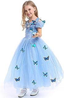 URAQT Princesa Traje del Vestido, Traje de Princesa Azul con