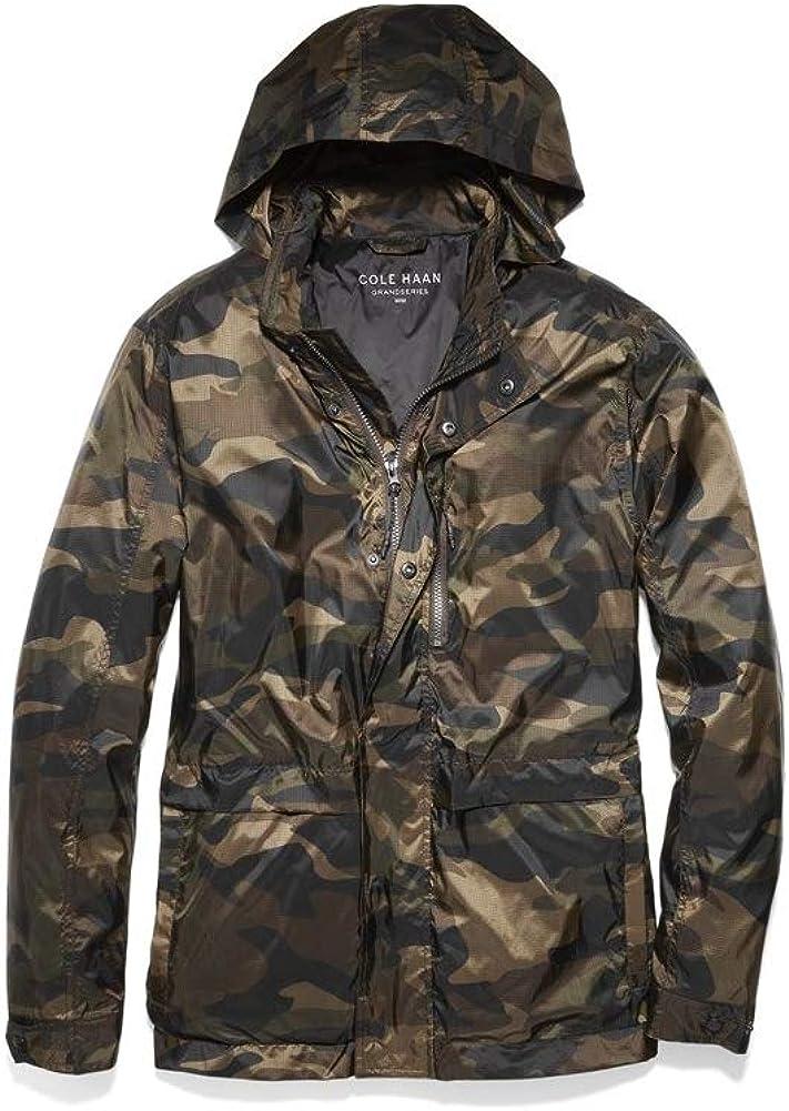 Cole Haan Men's Grand Series Crinkle Packable Rain Jacket