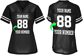Customize Your Own Football Jersey with Your Name and Team Number Personalized & Customized Jersey