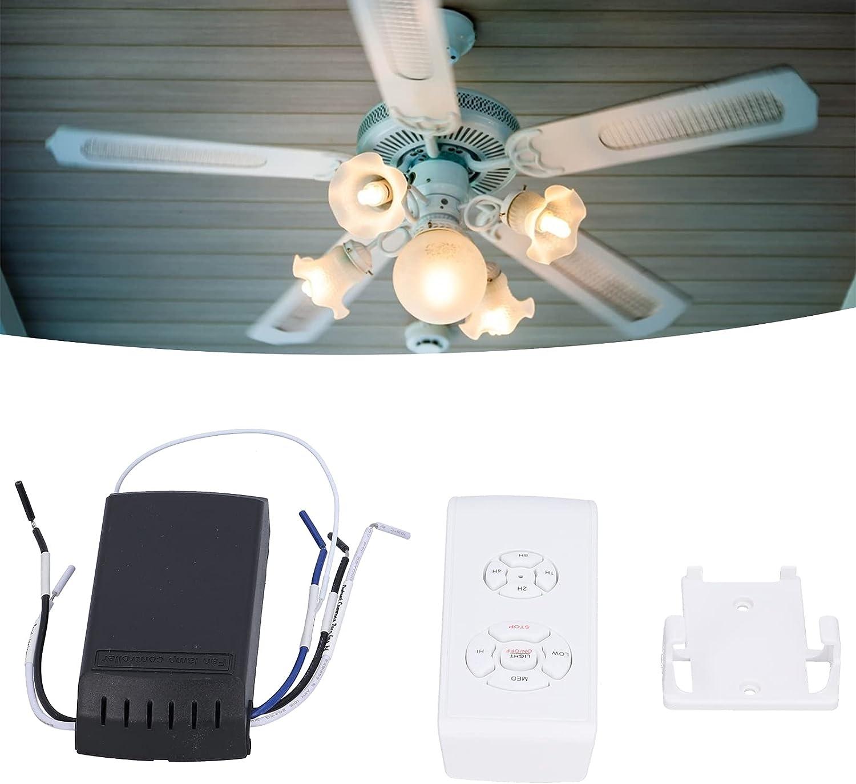 Ventilador de Techo Universal Kit de Control Remoto Luz del Ventilador Control Remoto Inalámbrico Control Remoto Inteligente de sincronización y Velocidad Sin hub y Control de Aplicaciones