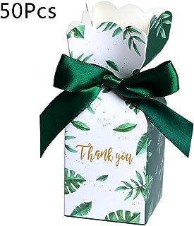 0551ee1f8a Manyo 50 Pcs Boîte à Bonbon Mariage Vintage, Dragées Mariage Sachet Bonbon  en Papier Imprimé
