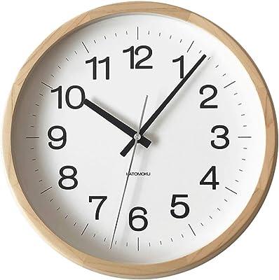 KATOMOKU muku clock 16 ヒノキ 電波時計 連続秒針 km-113HIRC φ306mm (SKP電波時計)