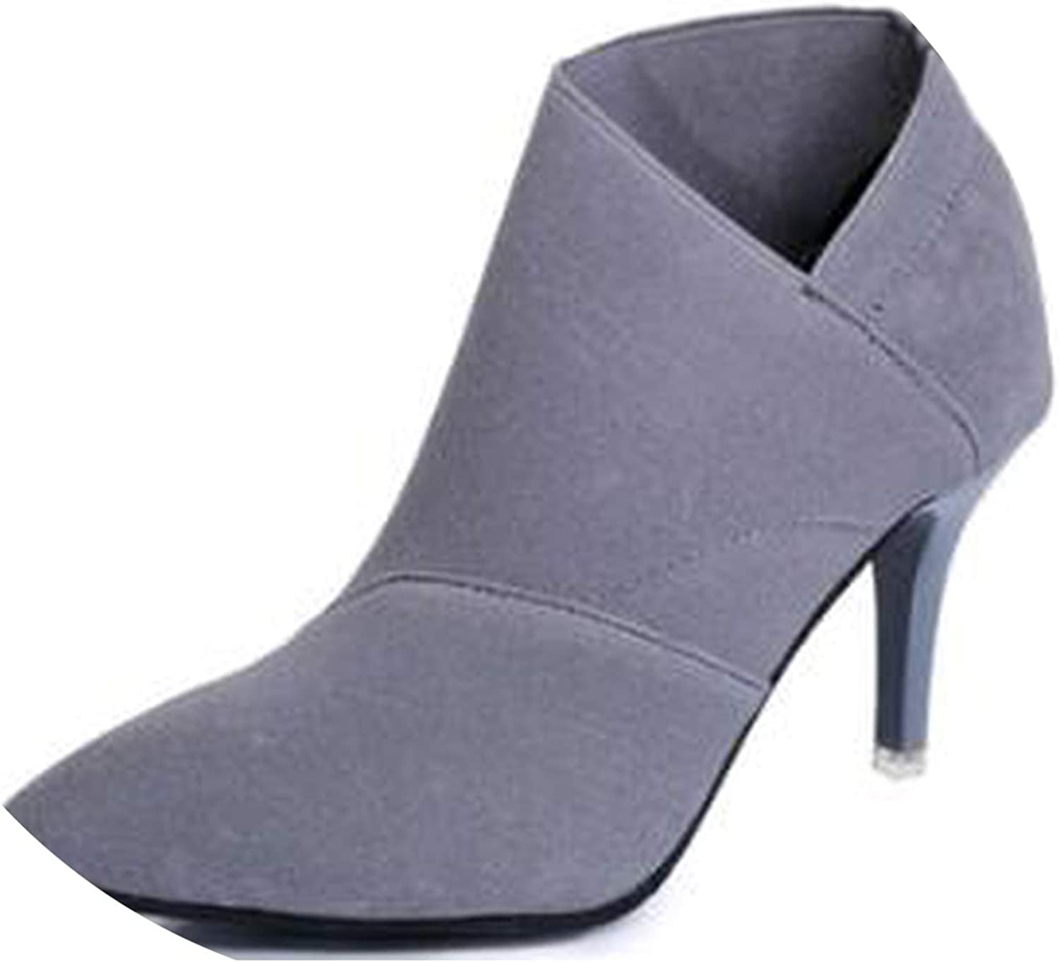 Lost Stars Pointed Toe High Heels Women shoes Basic shoes Autumn and Winter Casual Fitted Single Outwear shoes