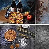 Selens 56x88cm 2 in 1 Hintergrund Retro Alter Stil Beton Zement Wand Textur Flatlay Tischplatte Fotografie Doppelseitiger Hintergründe für Gourmet Blogger, Kosmetik, Online Shops Produktfotografie