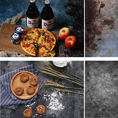 Selens 56 x 88 cm tło 2 w 1 retro styl beton cement ściana tekstura płaski blat stołu fotografia dwustronne tła dla smakoszy bloggerów, kosmetyków, sklepów internetowych fotografii produktów