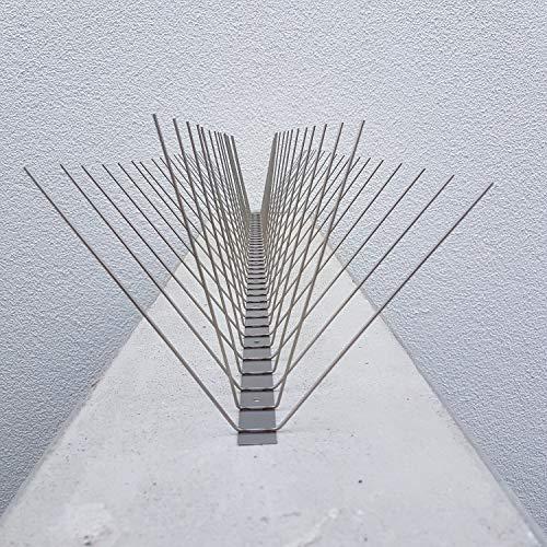 Möwenabwehr Krähenabwehr Taubenabwehr Edelstahl Spikes 1 Meter 4 reihig