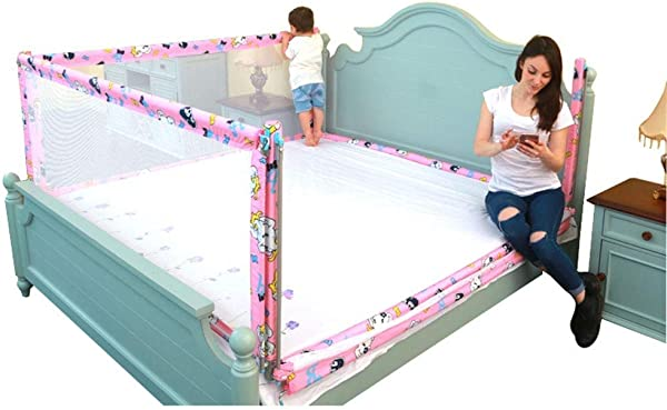 Toddler Bed Rail Kids Bed Rail Side Guard Safety Bed Guardrail Toddler Rail Guard Height Adjustable 3 Set For 3 Sides 2 Length Side And 1 Feet Side Size 180 200 200cm