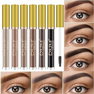 6Pcs/set Eyebrow Cream, Tinted Brow Mascara Brush Creates Natural Looking Brows Effortlessly Waterproof Long Lasting Liqui...