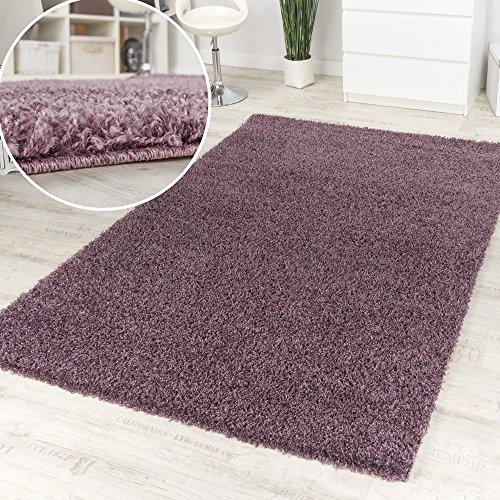 Tappeto Shaggy Purple Pelo Alto Pelo Lungo Lilla mélange Un Colore Svendita Top, Dimensione:160x220 cm