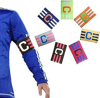 Football Soccer Adjustable Elastic Captain Armband Pack of 7