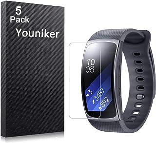 Youniker 5-pack för Samsung Gear Fit 2 skärmskydd film för Samsung Gear Fit2 smart klocka skärmskydd folie kristallklar HD...
