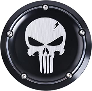 Frenshion Compatible for CNC6061 T6 Skull Motorbike Timing Cover Derby Air Cleaner Cover Motorcycle Accessories for Harley Street XG500 750 15-18