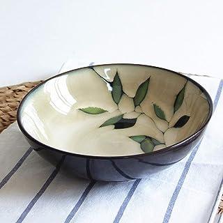 Size : CFEEMCA AHAI YU Gran Ensalada de Frutas Pasta Bowl Sopa de Fideos Ramen Mixing Bowl taz/ón Creativo Pintado a Mano de Porcelana Vajilla for microondas 8 Pulgadas
