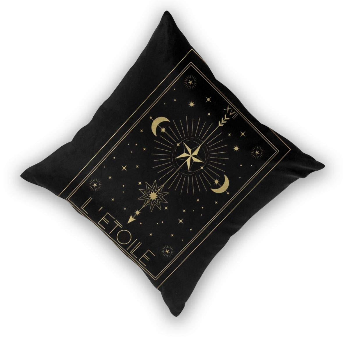 Cushion Covers Pack of 2 Cushion Covers Throw Pillow Cases Shells for Couch Sofa Home Decor Letoile Or The Star ...