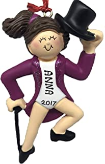 Personalized Tap Dancer Brown Christmas Ornament 2019