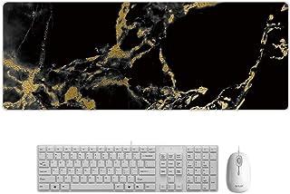 大型マウスパッド ゲーミング 大理石 防水 900*400*3mm デスクマット PCマット 超大型 ゲーミングマウスパッド おしゃれ 防水 耐久性 滑り止め オフィス ゲーム (3)