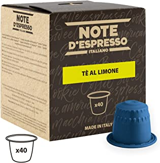 Note D'Espresso Cápsulas de Té, Limón - 40 Unidades da 8&