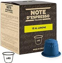 Note D'Espresso Cápsulas de Té, Limón - 40 Unidades da 8g, Total: 320 g Exclusivamente Compatible con cafeteras Nespresso*