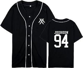 babyHealthy Kpop Monsta X Hip-hop Shirt IM Jooheon Wonho Shownu Baseball Shirt