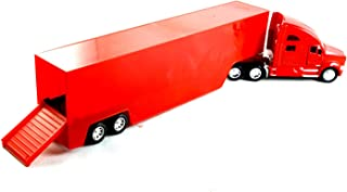 HCK Kenworth T2700 Commercial Container Big Rig Truck - Diecast Model Toy Cars in Red