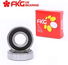 FKG 6306-2RS 30x72x19mm Deep Groove Ball Bearing Double Rubber Seal Bearings Pre-Lubricated 2 Pcs