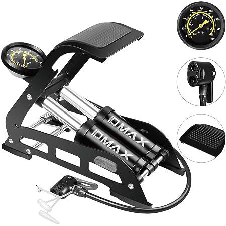 Bike Bicycle Tire Floor Pump High Pressure Foot Portable Riding Pumps Inflator